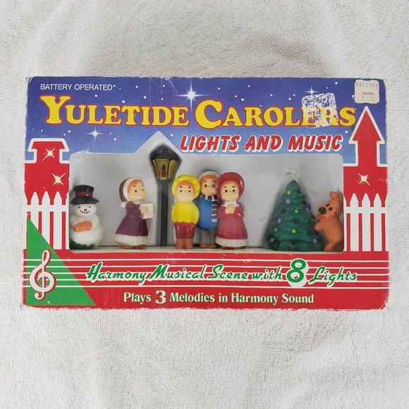 Vintage Tin Christmas Tray Carolers Christmas music